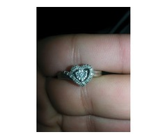 Sterling silver promise ring. Size 7