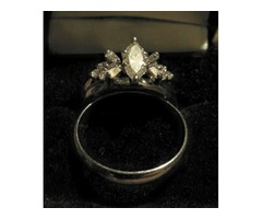 1.3 karat diamond wedding ring set.