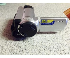 Sony camcorder with charger