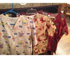 3 Ladies Scrub Tops
